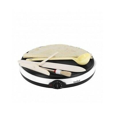 Electric Crepe Maker Pancake Griddle Machine Non Stick Cooking Plate Breakfast