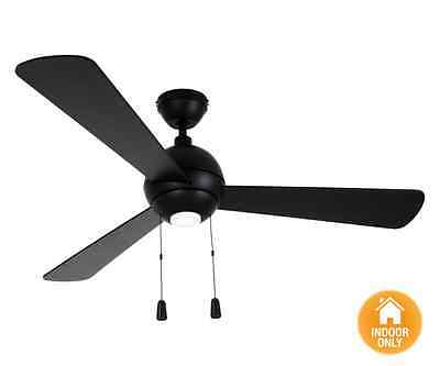 NEW Airfusion Bordono 122cm Fan with Light in Black - Beacon Lighting