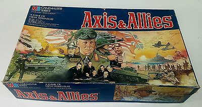 Vintage 1984 Axis & Allies Strategy War Board Game Master Series, Milton Bradely