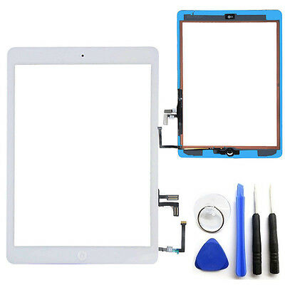 OEM White Touch Screen Glass Digitizer For iPad Air 5 Adhesive Home Button Tools