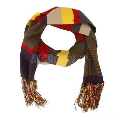 Doctor Who Fourth 4th Tom Baker Knitted Striped Scarf Costume w/ Tassels