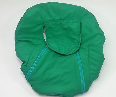 Baby's Cozy World Cover for Infant Baby Carrier, Winter Car Seat, Green & Blue