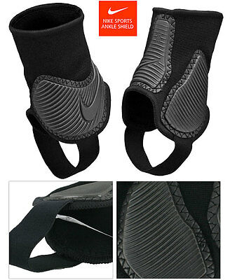 Genuine Nike Ankle Shields Protectors Pads for Soccer Football, Black Color