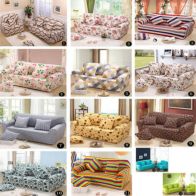 Green Living Removable Stretch Elastic Sofa Couch Silp Covers For 1 2 3 4 Seater