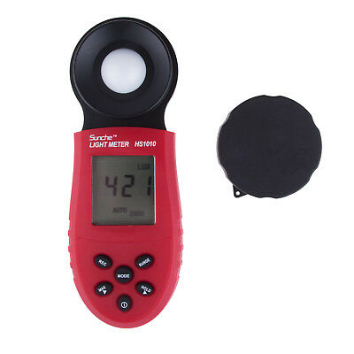 Red LCD Digital Light Meter Luxmeter Luminometer Photometer Measure Tester