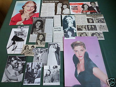 Pier Angeli - Film Star - Clippings /cuttings Pack