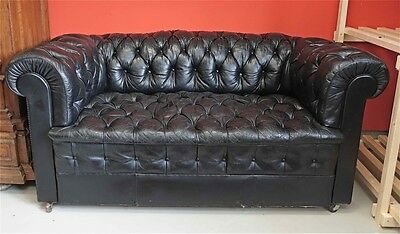 Chesterfield Ledersofa-Walter Gropius Chesterfield -Knackige Patina!!20.jahr.
