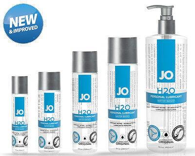 System JO H2O Water Based Lubricant Anal Vaginal Silky Lube 30/75/135/240/480ml