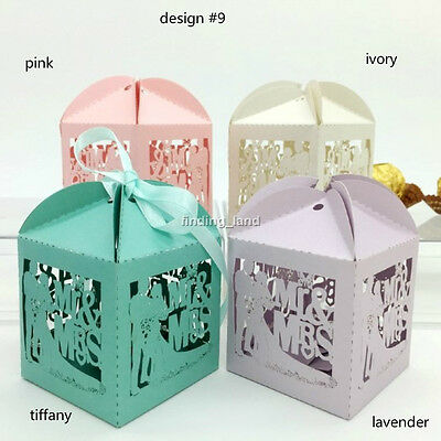 25/50/100 pcs Luxury Sweets Candy Gift Wedding Favour Boxes - Mr & Mrs #9