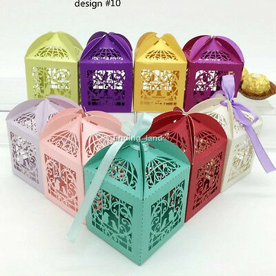 100 pcs Luxury Sweets Cake Candy Gift Favour Favors Boxes - Love Birds #10