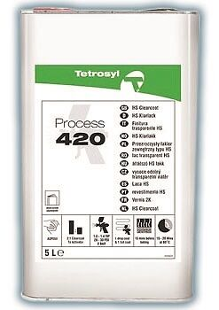 Tetrosyl PROCESS 420 CLEARCOAT 2K HS Clear Lacquer 5 Ltr