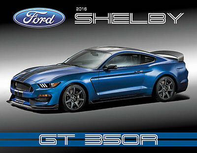 RARE & NEW! 2016 Ford Mustang SHELBY GT350 R Car Show Hero Card