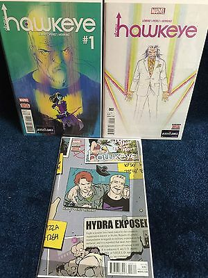 All New Hawkeye 1 2 3 Different Marvel Comic Set Collection