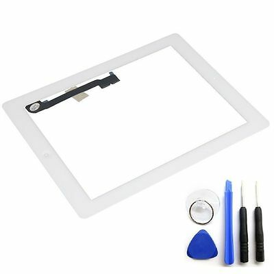 OEM White Glass Touch Screen Digitizer Home Button Assembly For iPad 3 4 + Tools