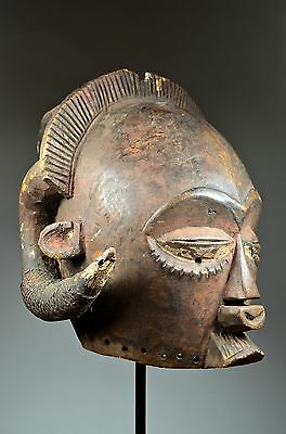 AUTHENTIC LUBA HEMBA HELMET MASK - ARTENEGRO Gallery with African Tribal Arts