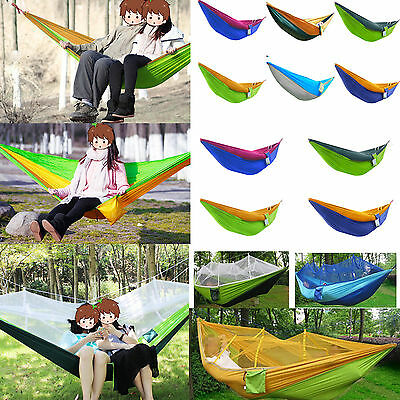 Portable Hammock Air Chair Hanging Swinging Camping Outdoor For Single/2 Persons