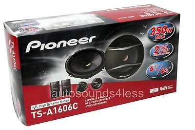 """Pioneer TS-A1606C 350 Watts 6.5"""" 2-Way Car Component Speaker System 6-1/2"""" New"""