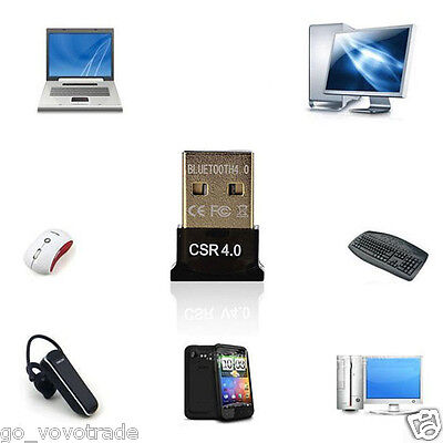 New Universal USB Bluetooth V4.0 Dongle Dual Mode Wireless Adapter For Laptop PC