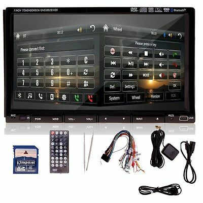 "2 DIN 7"" BT con lettore CD DVD Autoradio DVD Player IPOD Navi GPS USB Bluetooth"