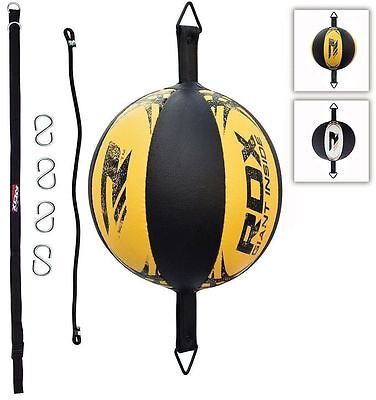 RDX Leather Double End Dodge Speed Ball MMA Boxing Floor to Ceiling Punch Bag AU