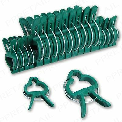 20 Small+Large Garden Spring Clips Support Plant Vegetable Bush Stems Patio Loop