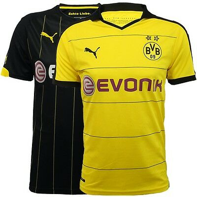 Puma BVB Borussia Dortmund 2016 Trikot Jersey Childs Home/Away yellow black NEW