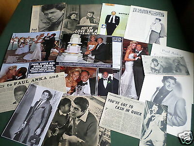Paul Anka - Pop Music Artist- Clippings /cuttings Pack