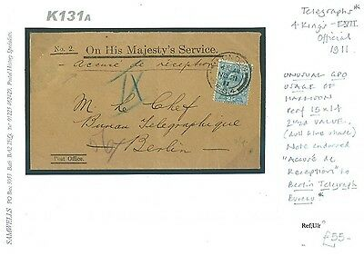 dbK169a 1937 NORWAY Christiana Uprated GB Stationery Reply Card/Yorks Sheffield