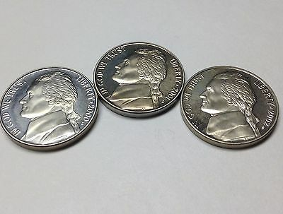 2000 / 2001 / 2002 / San Francisco Proof Jefferson Nickel Set - Unc.