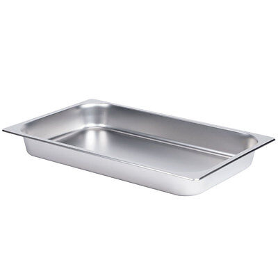 Full Size Stainless Steel Steam Table Pan - Anti Jamming - 24 gauge 2.25 in Deep
