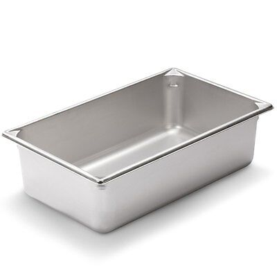 Full Size 6 inch Deep Stainless Steel Steam Table Pan - Anti Jamming - 24 gauge