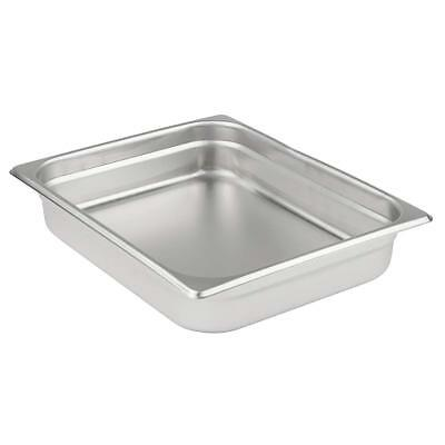 Half Size 4 inch Deep Stainless Steel Steam Table Pan - Anti Jamming - 24 gauge
