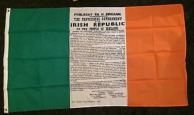 Irish Tricolour 1916 Flag Nationalist Ireland Easter Republic Proclamation bn