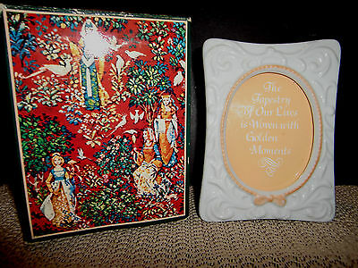 Vintage Avon Tapestry Collection, Porcelain Picture Frame In Original Box
