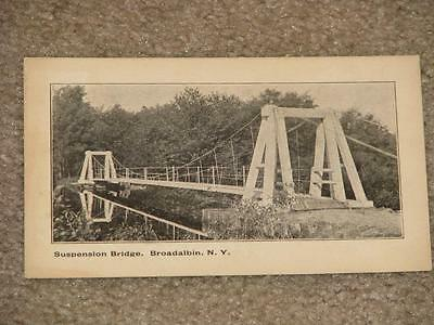 Suspension Bridge, Broadalbin, New York, early 1900`s, unused