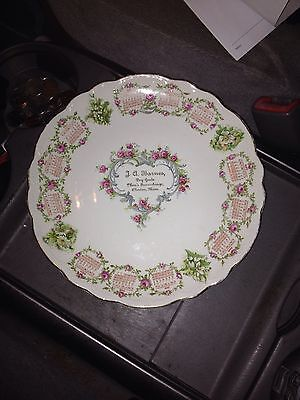 "1910 9"" J A Barnes Dry Goods Advertising Plate Clinton Ma"
