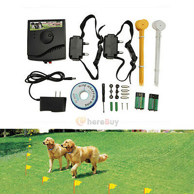 2016 New Underground Waterproof 2 Shock Collar Electric Dog Fence Fencing System
