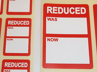 Bright Red REDUCED SALE CLEARANCE Price Point Stickers, Swing Tag Sticky Labels