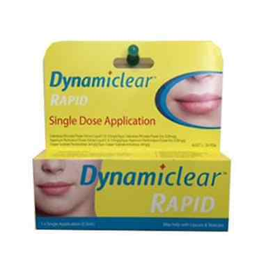 6 X Dynamiclear Rapid Single Dose Application Suits Cold Sore Lip Care 0.5Ml