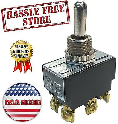 Gardner GSW-16 Heavy Duty Toggle Switch, ON-OFF-ON, Double Pole & Throw