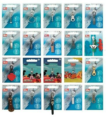 Prym Replacement Zip Puller / Zipper Pull - Choice of 22 Styles