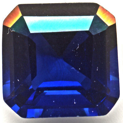 Deep Blue Sapphire  Asscher-Cut  7mm 2.1ct  Loose Gemstones