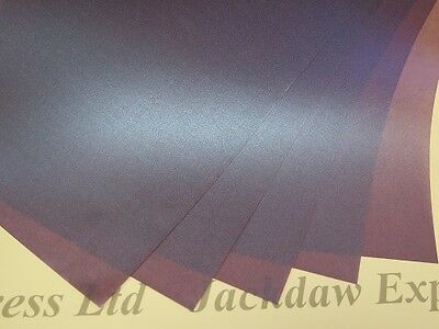 Purple Plum Transluscent Pearlescent Shimmer 1-Sided Vellum 25 x A4 100gsm AM517