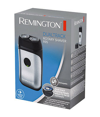 Remington R95 Men's Corded/Cordless 2-Head Travel Rotary Shaver Trimmer New