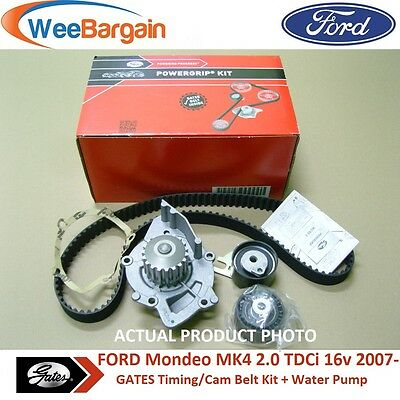 FORD Mondeo MK4 2.0 TDCi & more GATES KP15606XS Timing Belt Kit with Water Pump