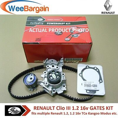 RENAULT CLIO II III IV 1.2 16v GATES KP25577XS Timing/Cam Belt Kit & Water Pump