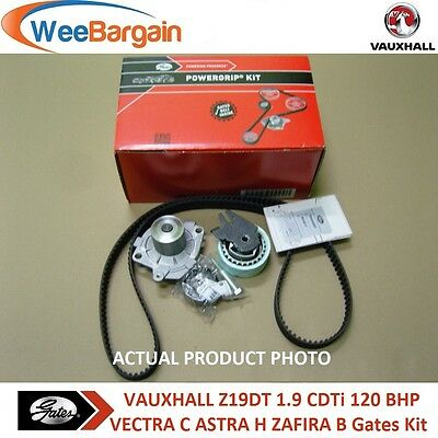 VAUXHALL VECTRA C 1.9 CDTi 120BHP GATES KP25650XS Timing Belt Kit Water Pump