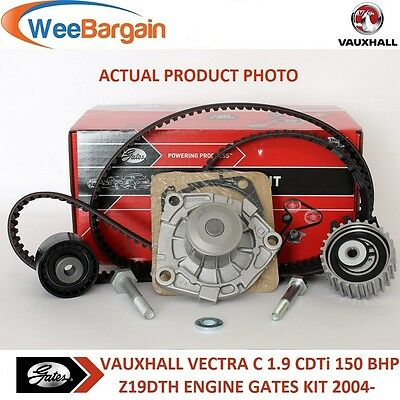 VAUXHALL VECTRA C 1.9 CDTi 150BHP Z19DTH GATES TIMING BELT WATER PUMP KIT *24H*