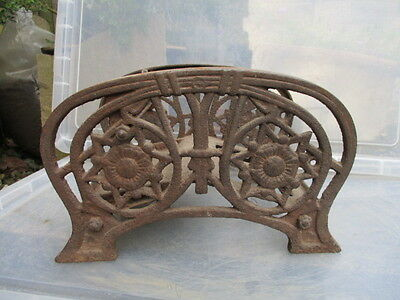 Victorian Cast Iron Boot Scraper Architectural Antique J.West & Sons Star Floral