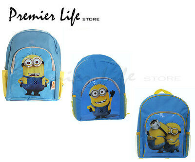 Despicable Me 2 Backpack / Bag with Pockets - Minions Kids back to School Bags